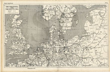 1914 WW1 WAR MAP PORTFOLIO Intern Camp Leewarden Holland HMS HAWKE CREWE (1100)